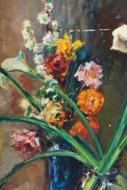 """DOMÈNEC CARLES ROSICH (1888-1962). """"BODEGÓN CON FLORES"""", 19"""
