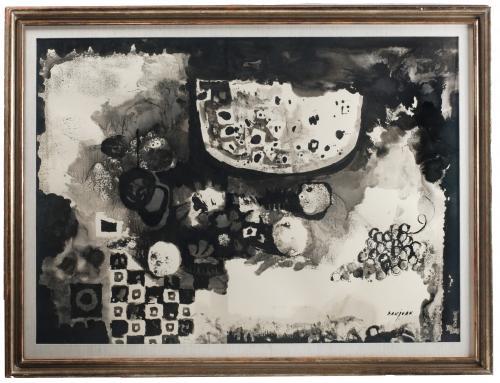 """BERNAT SANJUAN TARRÉ (1915-1979). """"BODEGÓN  DE FRUTA""""."""