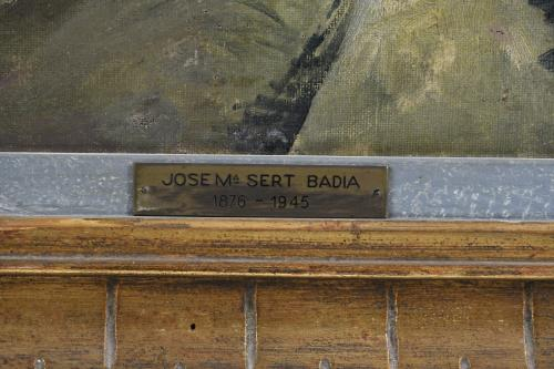 "ATRIBUIDO A JOSEP MARIA SERT (1874/76-1945). ""PUEBLO""."